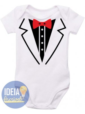 Body infantil - Smoking branco