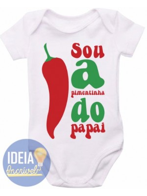 Body Infantil - Pimentinha do Papai
