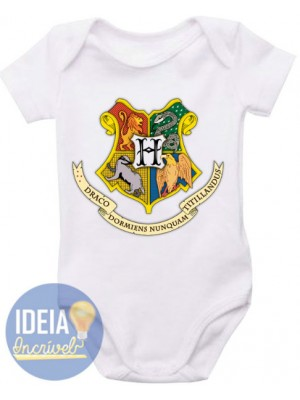 Body Infantil Brasão Hogwarts (Harry Potter)