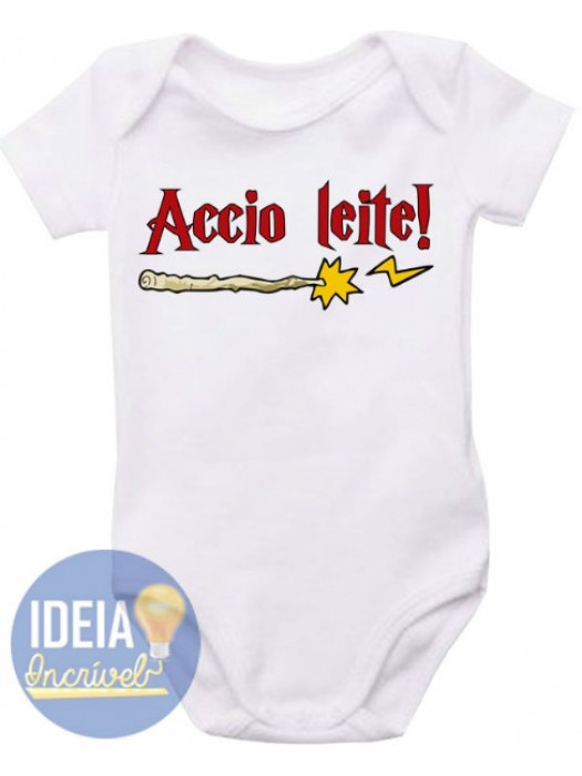 Body Infantil Accio Leite (Harry Potter)