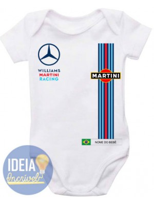 Body Infantil Corrida F1  Williams Martini Mercedes
