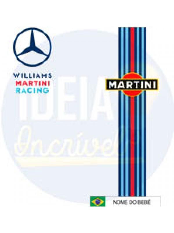 Body Infantil Corrida F1  Williams Martini Mercedes