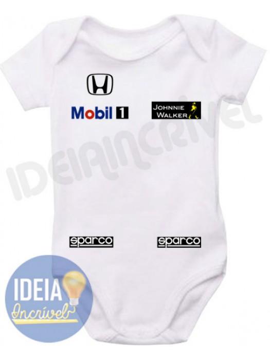 Body Infantil Corrida F1 Equipe McLaren Honda