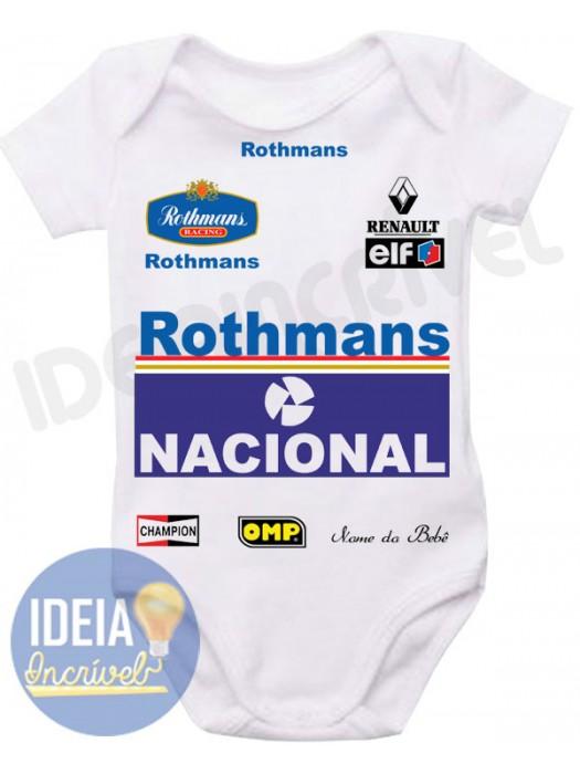 Body Infantil Corrida F1  Equipe Williams -  Ayrton Senna