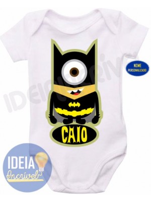 Body Infantil - Minions - Super-Heróis - Batman