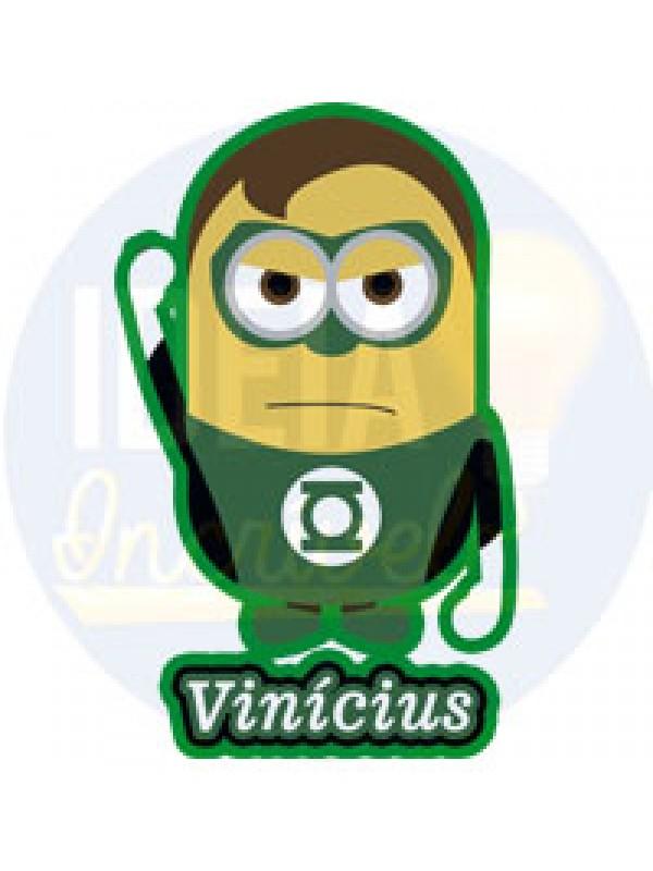 Body Infantil -  Minions - Super-Heróis - Lanterna Verde