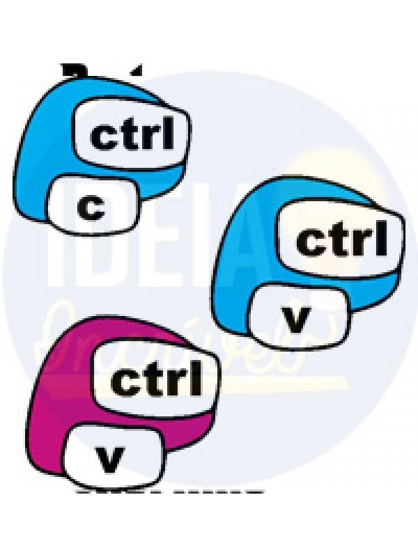 Kit Camiseta - Tal pai, Tal Filho(a) - Ctrl+c e Ctrl+v