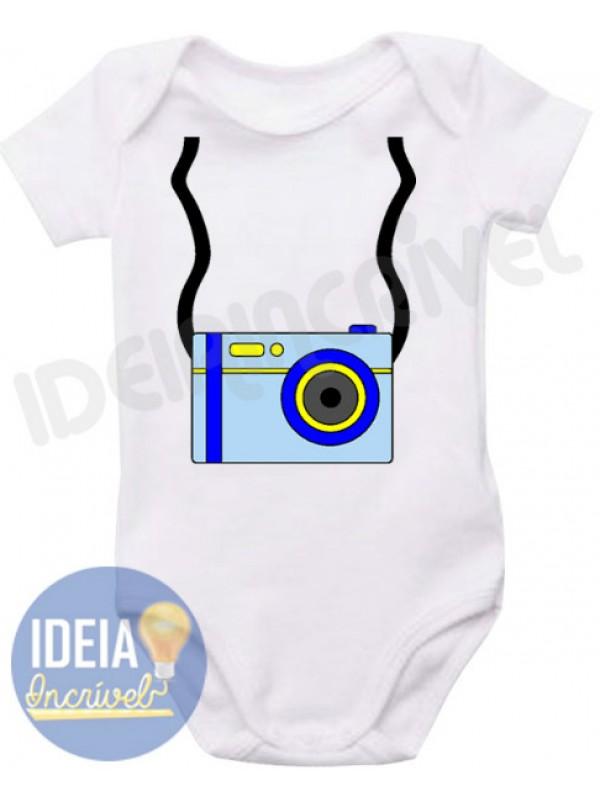 Body Infantil Mini Fotógrafo
