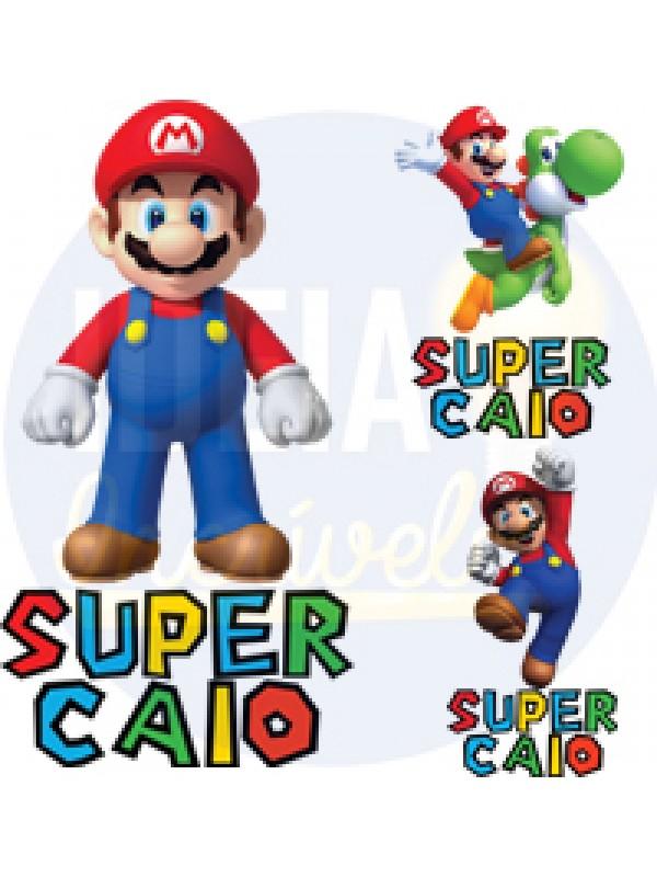 Body Infantil Mario Bros Com Nome Personalizado (Vários Modelos)