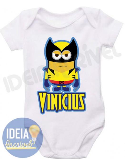 Body Infantil - Minions - Super-Heróis - Wolverine