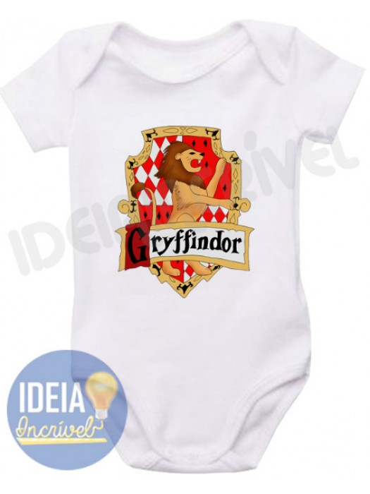 Body Infantil Brasão Grifinória (Harry Potter)
