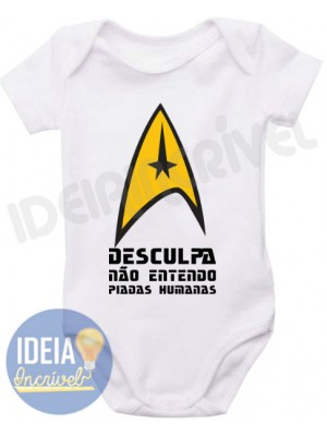 Body Infantil Frase Star Trek
