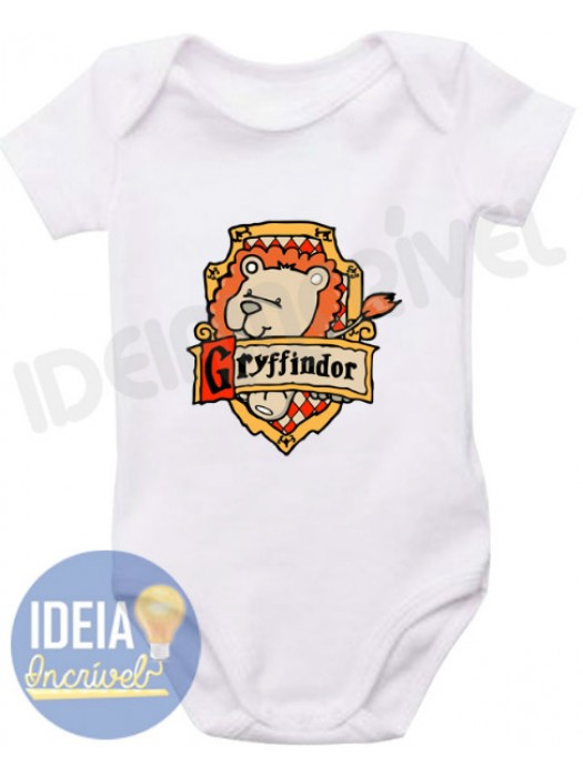 Body Infantil Bebê Grifinória (Harry Potter)