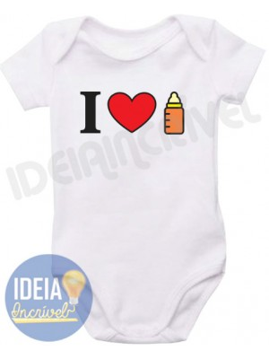 Body Infantil I love Mamadeira