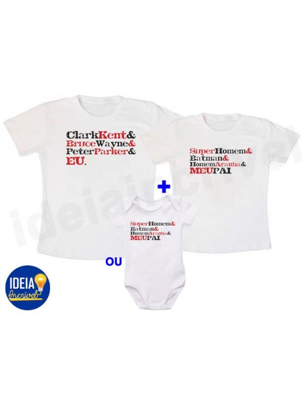f88a20bcdff2a5 Kit Camiseta Tal pai, tal filho - Super Herói
