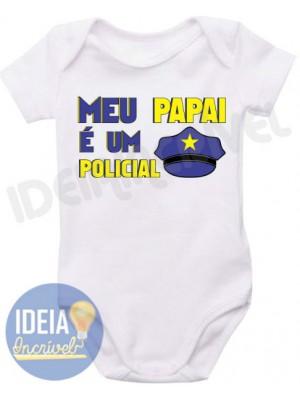 Body Infantil Meu Papai é um Policial