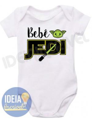 Body Infantil Bebê Jedi ( Star Wars)