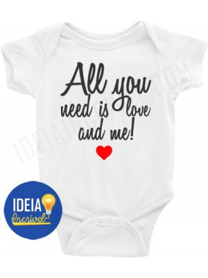 Body Infantil All you need is love and me