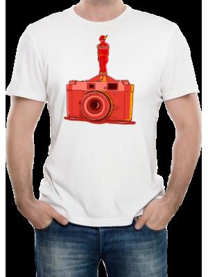 Camiseta Câmera com Flash