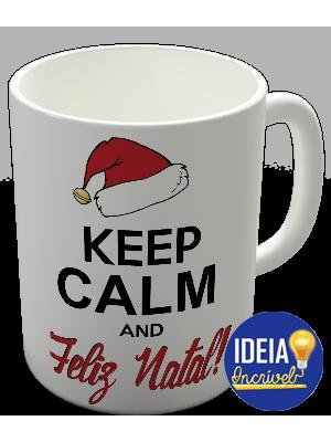 Caneca Keep Calm and Feliz Natal