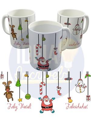Caneca Feliz Natal - Felicidades