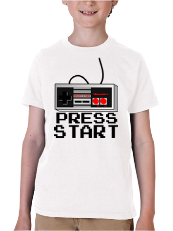 Camiseta Press Start Nintendo