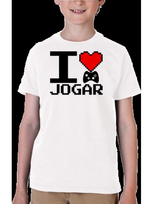 Camiseta I Love Jogar