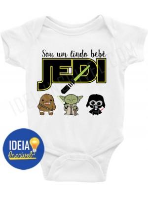 Body Bebê / Infantil Sou um lindo bebê jedi