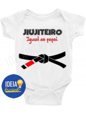 BODY BEBÊ / INFANTIL JIUJITEIRO IGUAL AO PAPAI