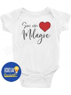 Body Bebê Infantil Sou um Milagre
