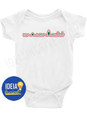 Body Bebê Infantil  Eu amo Natal