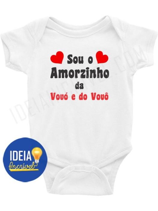 Body Bebê Infantil Sou o Amorzinho da Vovó e do Vovô