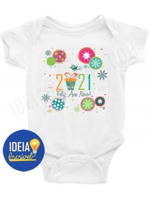 Body Bebê Infantil Feliz Ano Novo 2021