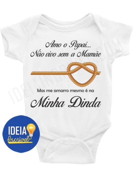 BODY BEBÊ INFANTIL ME AMARRO MESMO É NA DINDA