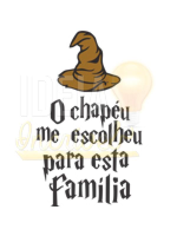 Body Bebê / Infantil O Chapéu me escolheu para esta família (Harry Potter)