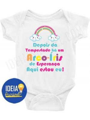 Body Infantil / Bebê - Depois da Tempestade há um Arco-Íris