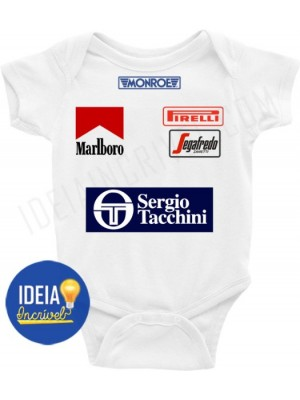 Body Bebê / Infantil - Corrida F1 Ayrton Senna - Toleman