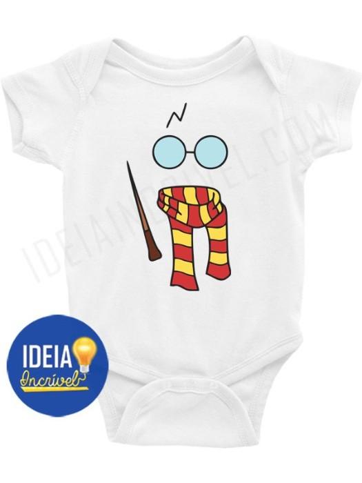 BODY BEBÊ / INFANTIL Harry Potter Minimalista