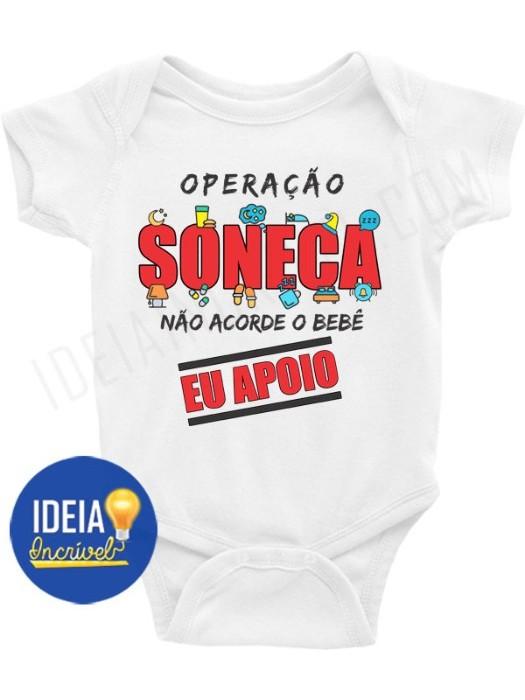 Body Bebê / Infantil - Operação Soneca - Não Acorde o Bebê (MOD.2)