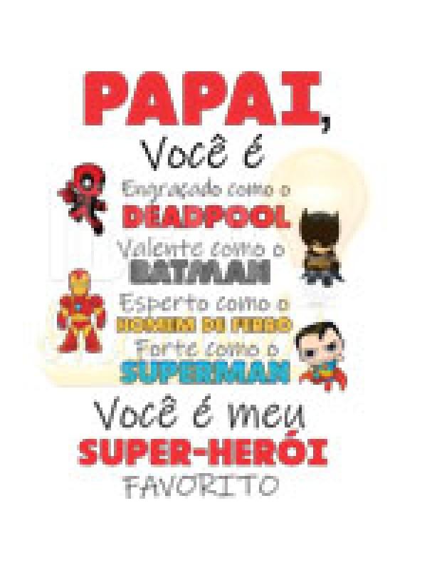 Body Bebê / Infantil - Papai Você é Meu Super-Herói Favorito