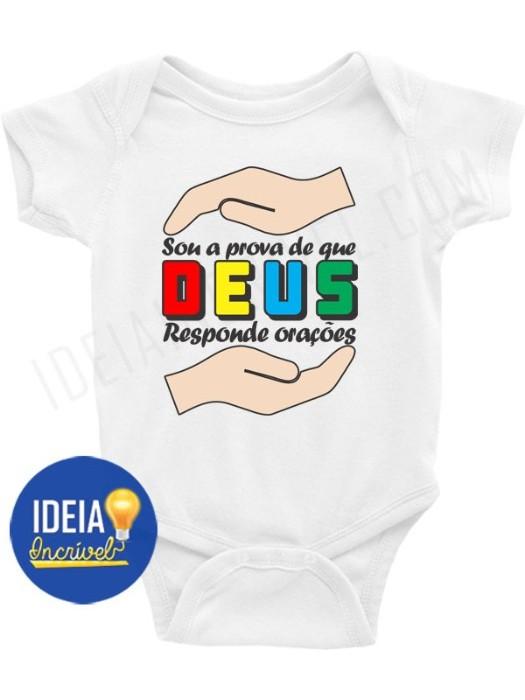 Body Bebê / Infantil - Sou a Prova de Que Deus Responde Orações