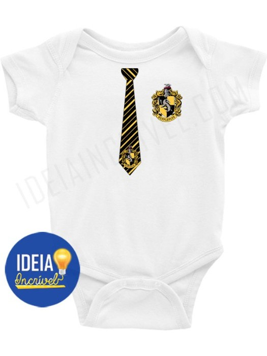 Body Infantil Uniforme Lufa-Lufa - Harry Potter