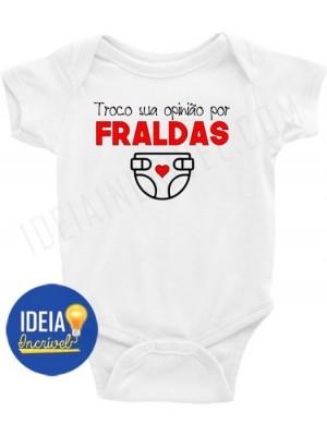 Body Infantil / Bebê - Troco sua opinião por fraldas