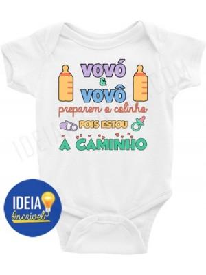 Body Infantil / Bebê - Vovó e Vovô Preparem o Colinho Pois Estou a Caminho