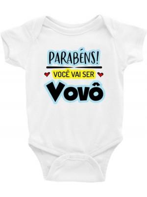 Body Infantil / Bebê - Parabéns você vai ser vovô