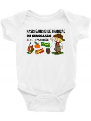 Roupa Body Infantil / Bebê - Gaúcho, Gauchesco, Gauchinho, Peão