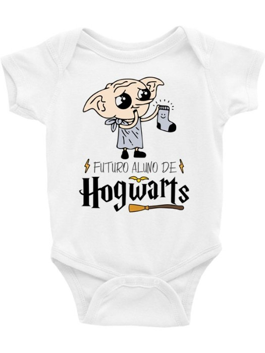 Roupa Body Bebê Infantil / Futuro Aluno de Hogwarts (mod.2)