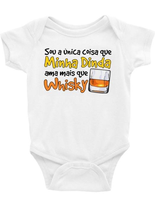 Roupa Body Bebê Infantil / Sou a única coisa que minha dinda ama mais que whisky