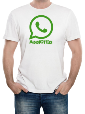 Camiseta Whatsapp Addicted