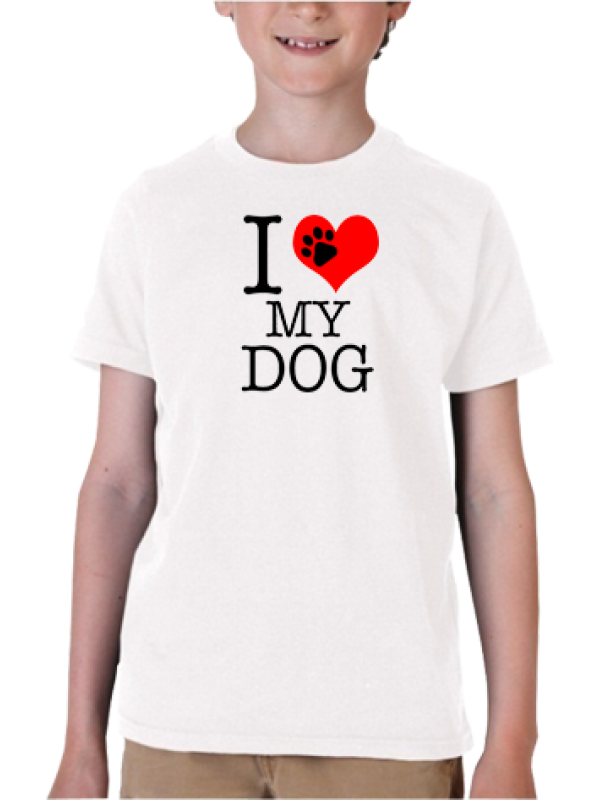 Camiseta I love dog